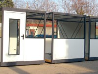 Cabines palettisables prêtes à être assemblées